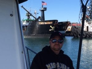 """Mike with """"Deadliest Catch"""" in background"""