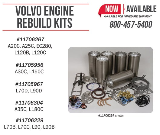 Volvo Engine Rebuild Kits Ready to Ship!